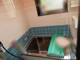 介護保険リフォーム 浴室手すり取付前