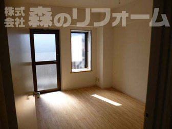 松戸市 賃貸マンションまるごとリフォーム システム家具撤去後 クロス貼り替えリフォーム フローリングリフォーム