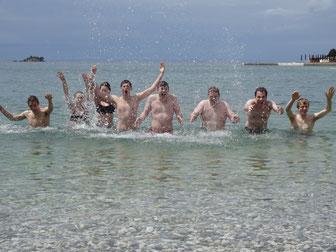 Badespaß in der Adria (Rovinj,Kroatien)