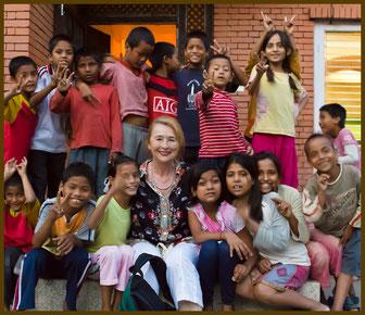 Rosi mit CFO-Kindern