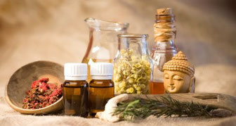 Hierbas, aceites vegetales, AAEE, mantecas, preparados ayurvedicos...