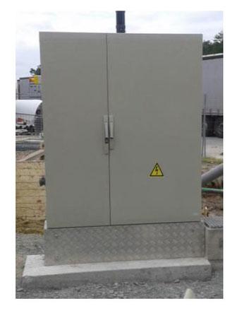 socle en béton pour armoire électrique - norme NF EN 206-1