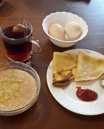 Das Frühstück auf der Insel