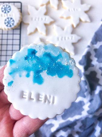 Elsa Frozen Kekse mit essbarem Schnee