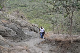 Aufstieg auf den Mount Longonot