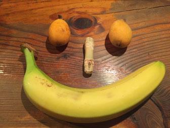バナナとビワ
