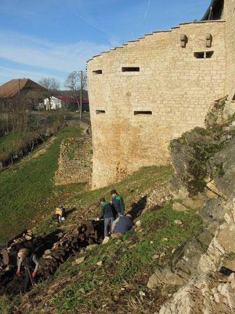Aménagement de la terrasse sud 2015