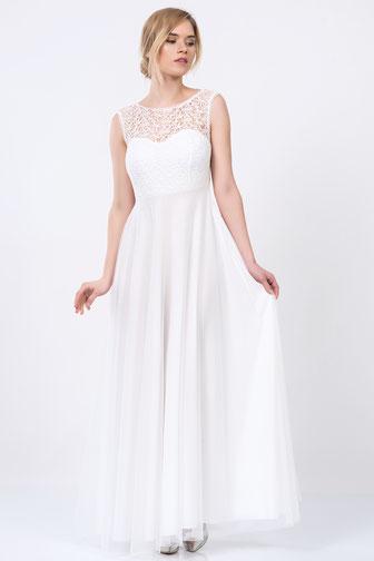 Weißes Kleid Lang Mit Spitze – Mode-Modell Geschichte
