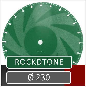 prodito slijpschijf 230mm op haakse slijper specifiek voor ebema rockstone