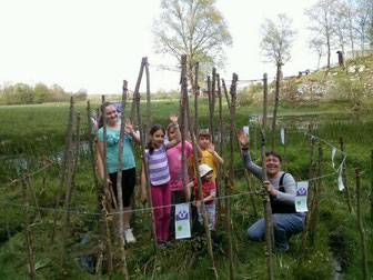 Janja Heij, teacher from Obrh pri Dragatušu in Slovenia with their pupils in 7th SPIRAL-CHANNEL
