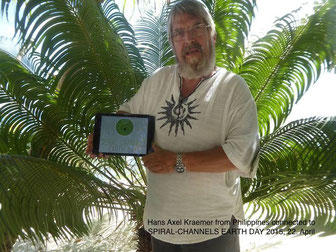 Hans Axel Kraemer sent us this photo from Philippines and is connected so to SPIRAL-CHANNELS EARTH DAY 2015 project.
