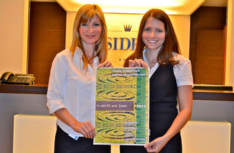 Sandra Abbrederis (Owner of Hotel Residence in FL-Vaduz) and Annett Seidel (Hotel Manager)