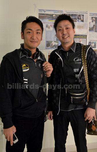 Toru Kuribayashi (left) & Naoyuki Oi 2015ドーハにて