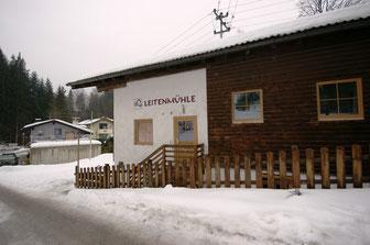 Bild: Hütte Leitenmühle ist im Winter gut erreichbar