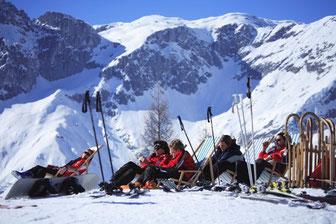 Bild: Schneeschuhverleih im Samo Angebot enthalten ist