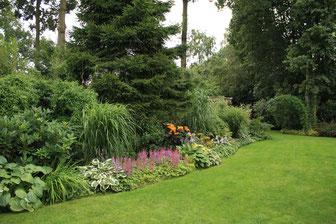 Mooi aangelegde tuin