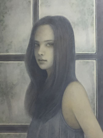 のどけし Quietude Oil on canvas 333x242mm 2017