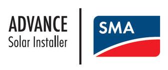 Logo van SMA Advance Installer (Telcom werd door SMA benoemd als professionele partner voor het installeren van omvormers.