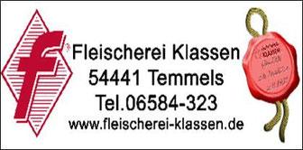 Fleischerei Klassen Temmels (Sponsor)