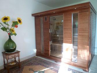 Tous les bienfaits du sauna: relaxation, soulagement, embellissement, drainage.