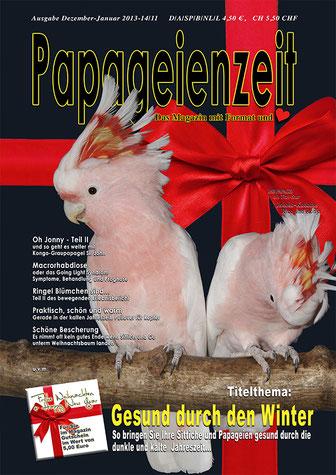 Papageienzeit 11 Molukkenkakadus, Macrorhabdiose, Pullover für Rupfer, Gesund durch den Winter