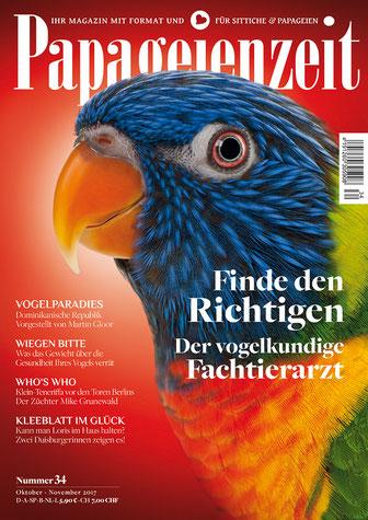 Papageienzeit 34 zeigt das Vogelparadies der Dominikanischen Republik, klärt über das Wiegen auf, stellt den Züchter Mike Grunewald vor und findet den richtigen Tierarzt
