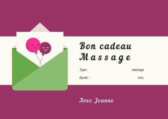 Bons cadeaux massage offrir un bon 1