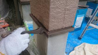 ⑩水切り等の付帯の塗装作業