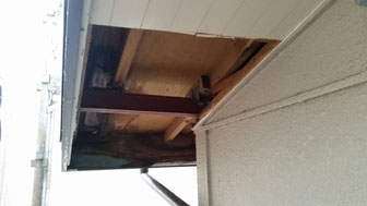 【施工中】軒天雨漏り部解体