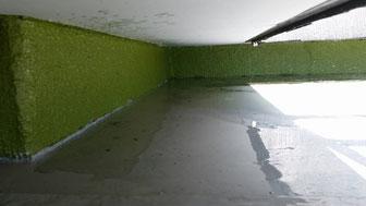 玄関屋根上防水工事前