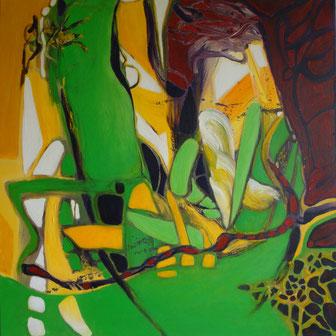 Grün sticht Gelb | 2011 | 70 x 70