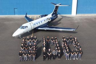 500e livraison d'un jet privé Embraer Phenom 300