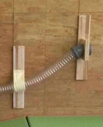Höhenverstellbar durch Klettband