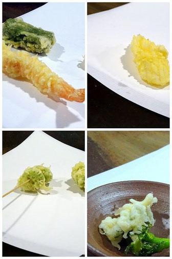 西宮北口の天ぷらのお店「一悠」さんの天ぷら。季節の食材を揚げてくれます。