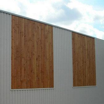 Bardage metal et bois par ACMB construction metallique à Brioux 79