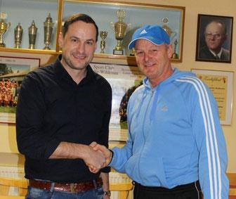 Abteilungsleiter Thomas Diertl und Trainer Roland Rittner