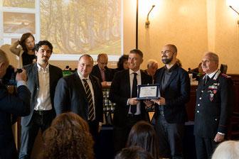 """premiazione concorso """"Obiettivo Terra"""" con Alfonso Pecoraro Scanio"""
