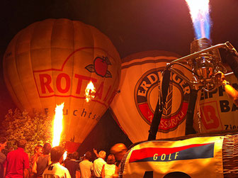 Ballon, Heißluftballon, Ballonglühen, Bad Griesbach