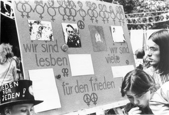 Lesben in der DDR, Friedenswerkstatt 1983 Berlin Ost, Foto: Bettina Dziggel, Quelle: Robert-Havemann-Gesellschaft