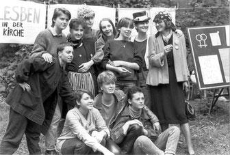 Lesben in DDR, Friedenswerkstatt 1985, Foto: Bettina Dziggel, Quelle: Robert-Havemann-Gesellschaft
