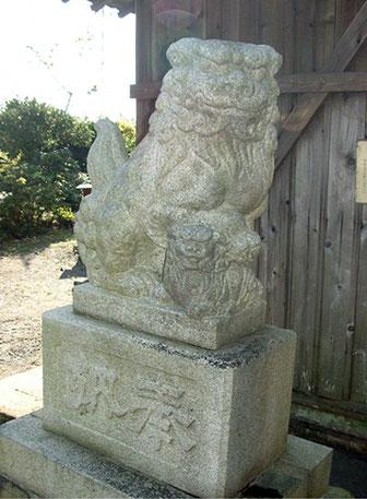 駒越神社 狛犬