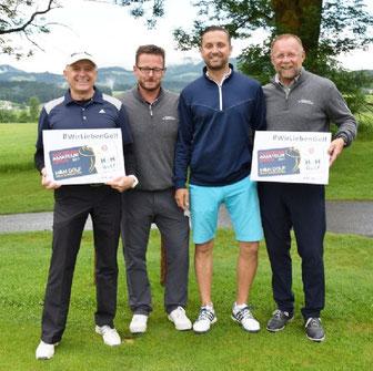 von li: Peter Florian, Patrick Volkmann, Christoph Petrak und Stefan Florian im GC Almenland/Stmk.