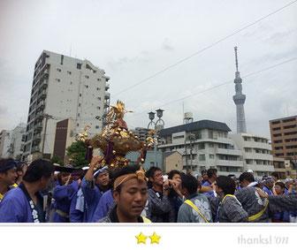恵利子さん: 亀戸天神社例大祭