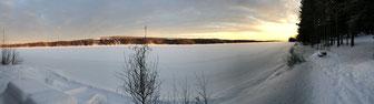 Fluss Winteransicht