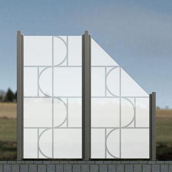 Sichtschutz-Glas-Glaszaun-Garten