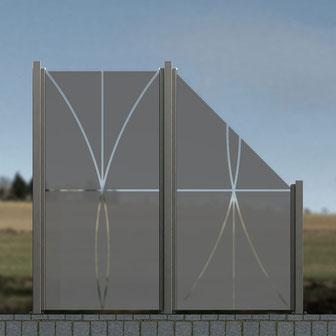 Design-Glaszaun