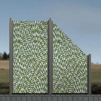 Glaszaun mit Digitaldruck