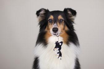 Häkel Anhänger, Fotovorlage, Hund, gehäkelt, handmade