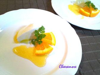 orange mozzarella