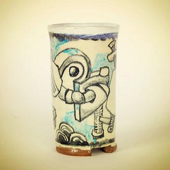 andre bauersfeld,keramik,becher,